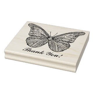 Inspired Butterfly Rubber Stamp