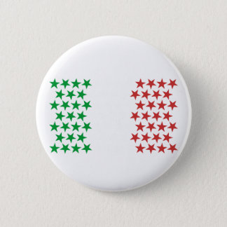 Inspired by Italian Flag. Stars Edition 2 Inch Round Button