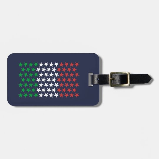 Inspired by Italian Flag. Stars Edition Bag Tag