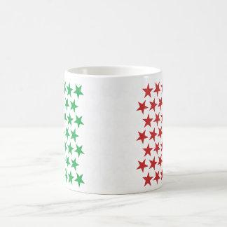 Inspired by Italian Flag. Stars Edition Coffee Mug