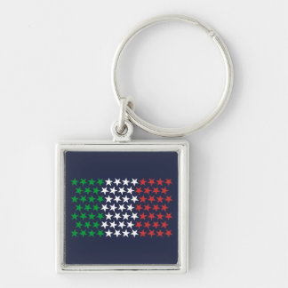 Inspired by Italian Flag. Stars Edition Keychain