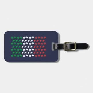 Inspired by Italian Flag. Stars Edition Luggage Tag