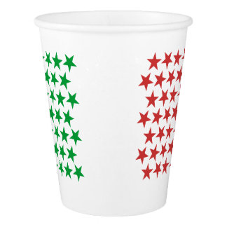 Inspired by Italian Flag. Stars Edition Paper Cup