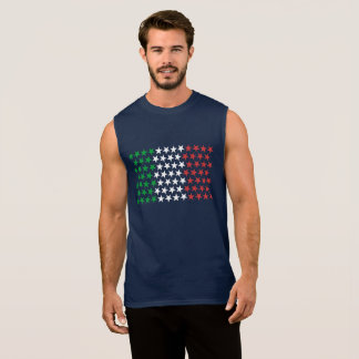 Inspired by Italian Flag. Stars Edition Sleeveless Shirt