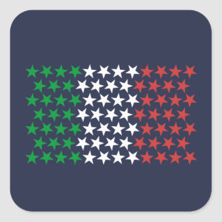 Inspired by Italian Flag. Stars Edition Square Sticker