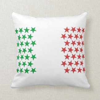 Inspired by Italian Flag. Stars Edition Throw Pillow