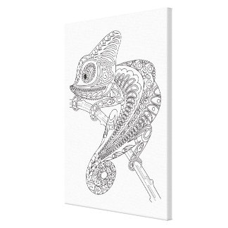 Inspired Chameleon Canvas Print