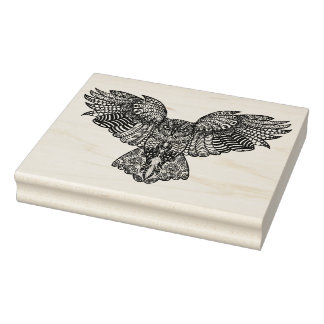 Inspired Eagle Owl Rubber Stamp