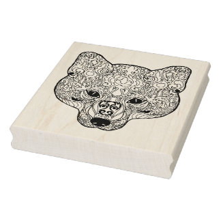 Inspired Fox Head Rubber Stamp
