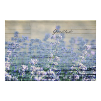 Inspired Gratitude Rustic Lavender Poster