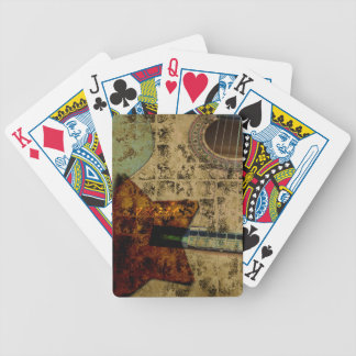 Inspired Guitar Stars Bicycle Playing Cards