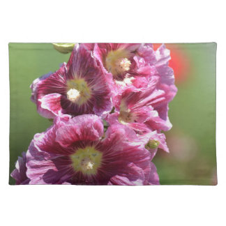 Inspired Hollyhock Flowers Place Mats