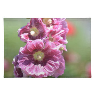 Inspired Hollyhock Flowers Placemats