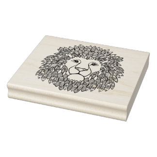 Inspired Lion Head Rubber Stamp