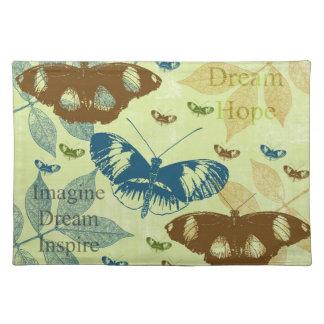 Inspired Natural Butterflies Place Mat