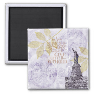 Inspired New York Liberty Square Magnet
