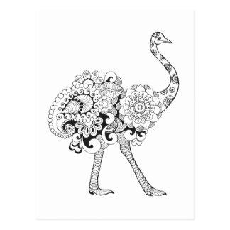 Inspired Ostrich Postcard