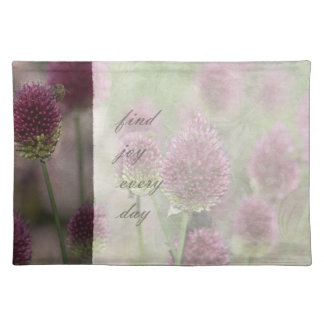 Inspired Pink Floral Joy Place Mats