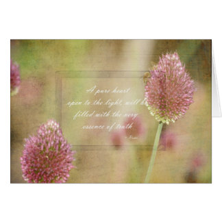 Inspired Pink Floral with Rumi Quote Card