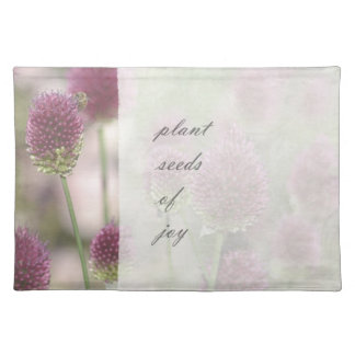 Inspired Plant Seeds of Joy Floral Place Mat