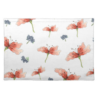 Inspired Pretty Orange Flowers Placemat