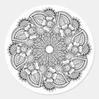 Inspired Round Design Classic Round Sticker