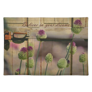 Inspired Rustic Floral Placemats