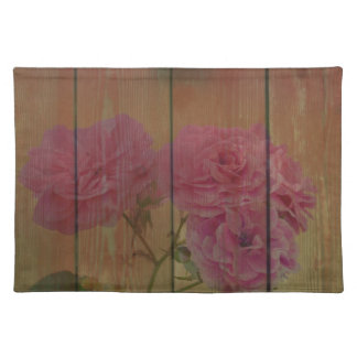 Inspired Rustic Pink Roses Place Mat