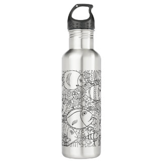 Inspired School Of Fish 710 Ml Water Bottle