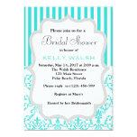 "Inspired Tiffany White Bow Bridal Shower Invite 5"" X 7"" Invitation Card"