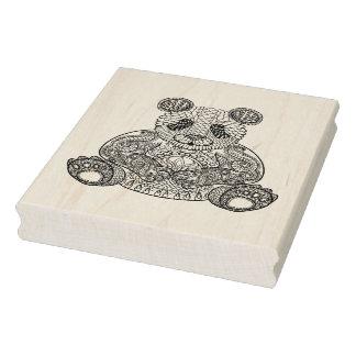 Inspired Tribal Panda Rubber Stamp