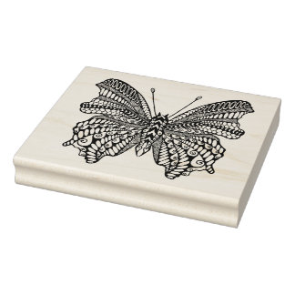 Inspired Tropical Butterfly Rubber Stamp