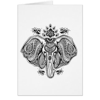 Inspired Vintage Indian Elephant Card