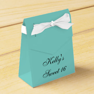 Inspired White Bow Sweet 16 Favor Candy Box