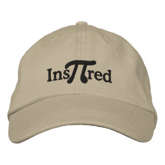 Inspired with Pi Humor Embroidered Hat