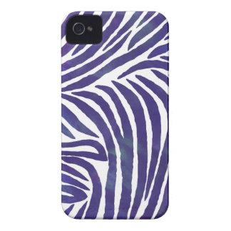 Inspired Zebra Print  Purple iPhone 4 Cases