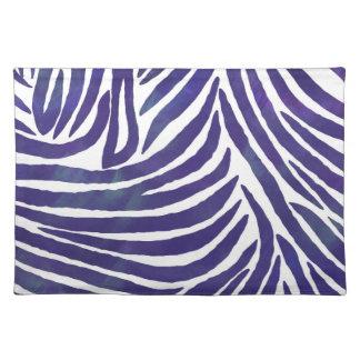 Inspired Zebra Print  Purple Place Mat