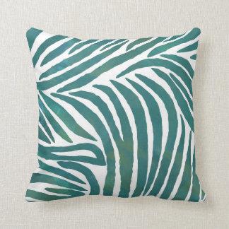 Inspired Zebra Print  Teal Throw Pillow