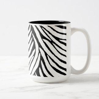 Inspired Zebra Print Two-Tone Coffee Mug