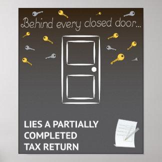 Inspiring but...tax returns poster