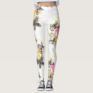 Inspiring butterflies leggings