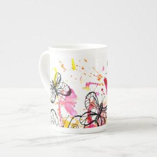 Inspiring butterflies tea cup