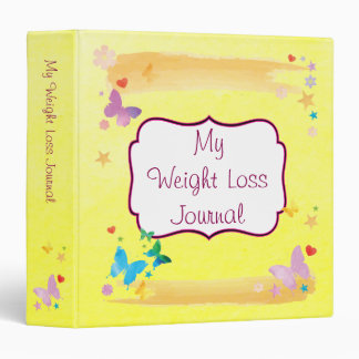 Inspiring Diet Weight Loss Motivation Journal 3 Ring Binder