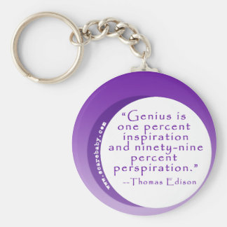 Inspiring Genius Quote for Motivation Keychain