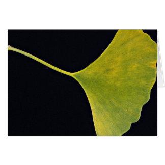 Inspiring Ginkgo leaf Card