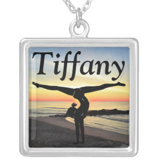 INSPIRING GIRLS GYMNASTICS CUSTOM NECKLACE
