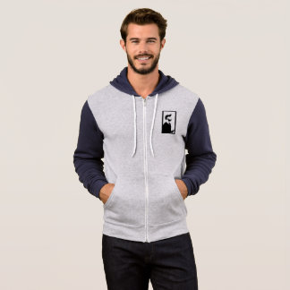inspiring gray and black hoodie. hoodie