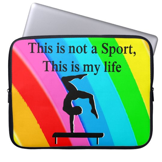 INSPIRING GYMNASTICS QUOTE DESIGN LAPTOP SLEEVE