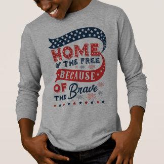 Inspiring Home of the Free Veterans Day Shirt