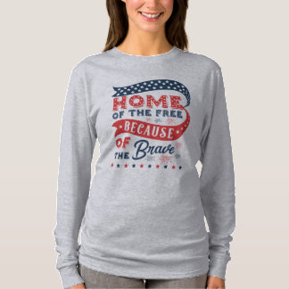 Inspiring Home of the Free Veterans Day Shirt